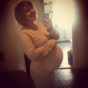 Siste bilde som gravid (3 dager før fødsel)